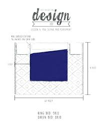 area rug placement and size for king bed option 2 satori design
