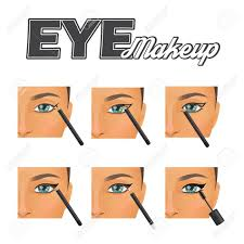 Eyeliner Chart How To Make Perfect Winged Vintage Retro Eyeliner Make Up Tutorial