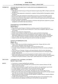 Sales Rep Resume Food Sales Representative Resume Samples Velvet Jobs 79