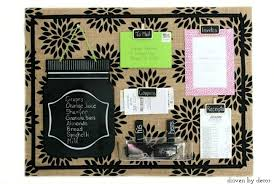 cork board for office. great tutorial to create cute patterned burlap bulletin board cork for office f