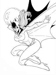 Good Batgirl Coloring Pages 58 In Line Drawings With Batgirl