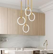 gold t8 led ring chandelier circle ring light single head circline pendant lamps bronze pendant lighting best pendant lights from greatlight520