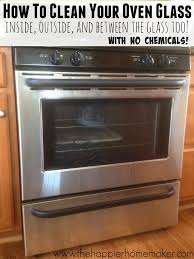 easy step by step tutorial showing how to clean oven glass including the secret to