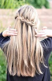 waterfall french braid hairstyles long hair ideas