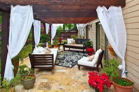 net trend other metro mediterranean patio remodeling ideas with decorative pillows outdoor curtains outdoor cushions outdoor room outdoor rug