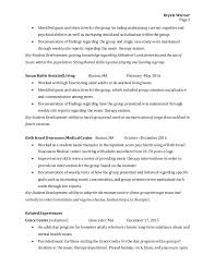 music therapy resume best resume samples images  music therapy resume