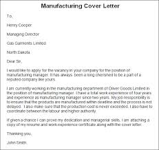 cover letter for manufacturing jobs cover letter examples manufacturing cover letter samples cover