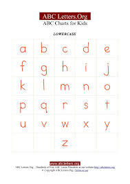 Kids Letter Chart with ABC Alphabets Lowercase | ABC Letters Org
