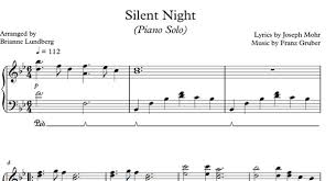 sheet music silent night silent night sheet music for piano intermediate musical bri