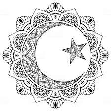 Een Circulaire Patroon In De Vorm Van Een Mandala Religieuze