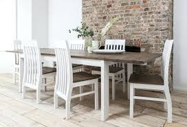small round white dining table white kitchen table dining and chairs set dark pine with extending