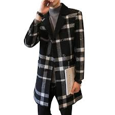 2019 autumn and winter men s business casual british style long wool plaid coat trench coat high quality warm thick wool from volontiers 75 77 dhgate