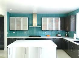 kitchen backsplash glass tile green. Blue Kitchen Glass Tiles Green Backsplash Mint Ocean With White Cabinet And  Bowl Tile Floor