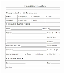 Near Miss Reporting Form Template New Customer Incident Report Form