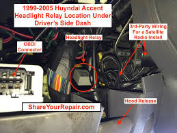 hyundai accent questions settle an argument cargurus i have a 2005 hyundai accent gt and it does have automatic headlights but when the headlight relay goes bad i found that mine were not always turning off