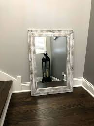 rustic wood framed mirrors. Whitewash Mirror Wood Frame Rustic Framed Mirrors Oak Wall Wooden Round D