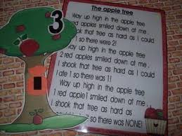 Apple Tree Pocket Chart Up In The Apple Tree Apples Poems And Songs Apple