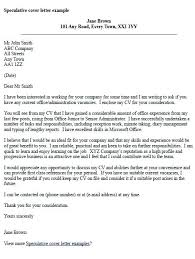 Application Cover Letter Template Speculative J Perfect Speculative