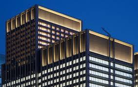 building facade lighting. Otemachi Park Building, Tokyo Building Facade Lighting W