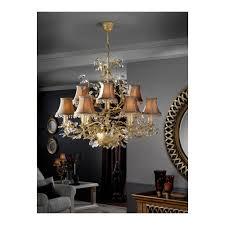 verdi ivory gold 9 bulb old chandelier