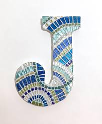 mosaic letter wall art