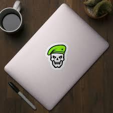 War Commander Skull Face Logo