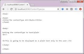 Browser Content Type Jsp Contenttype Attribute Decodejava Com