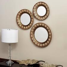 round gold mirror set of 3