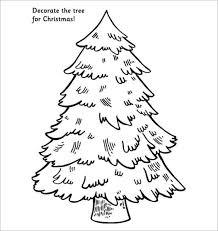 Printable Christmas Tree 32 Christmas Tree Templates Free Printable Psd Eps Png