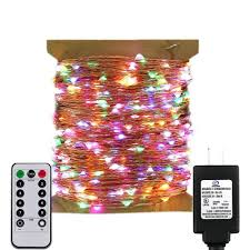 Outdoor Led String Lights With Remote Control Remote Control Adapter Powered Led String Lights 165ft 500