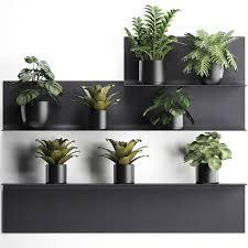 3d model plants wall decor vertical