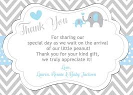 Thank You Cards Baby Shower Elephant Thank You Card Baby Shower Invitations Baby Shower