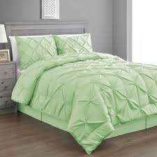 Amazon.com: Pinch Pleat Mint/Green Color King Size 4-Piece Comforter Set,  Bed Cover by Cozy Beddings: Home & Kitchen