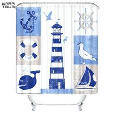 hooks lighthouse shower curtain smlf shower
