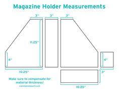 Magazine Holder Template DIY Magazine Holders Karen Kavett cartonagem Pinterest 2