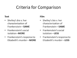 comparison contrast essentials two subjects for  6 criteria