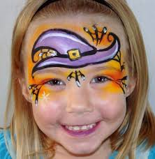 Easy Halloween Face Painting Designs Witches Hat Pumpkin Face Paint Witch Face Paint Face