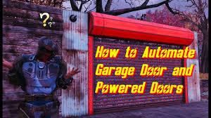 fallout 76 garage door and powered door tutorial