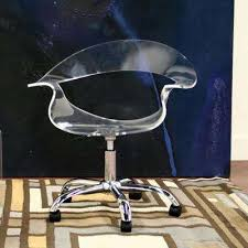 clear office. Elia Modern Clear Wood Finished Office Chair