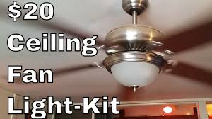 ceiling fan light kit diy