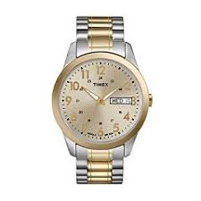 timex watches kohl s timex men s two tone stainless steel expansion watch t2m935 9j