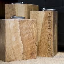 xtra large personalised oak door stop decorative accessories