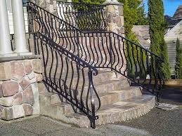 outdoor metal handrails for stairs. stairs, surprising outdoor stair railings 2 step handrail black with half oval metal handrails for stairs r