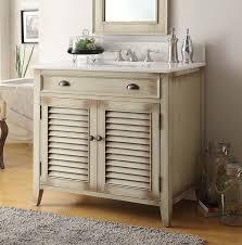 36 bathroom vanity. 36 Inch Bathroom Vanity Louvered Shutter Doors Distressed Beige (36\ R