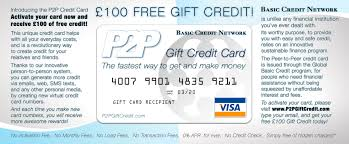 graphic design in hd of the p2p gift credit cards