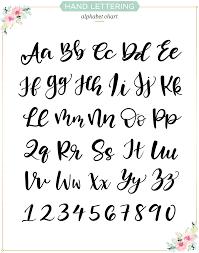 hand lettering alphabet