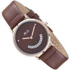 mini simple leather belt watch women s popular cute las watch brown mn2052 cof