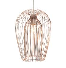 contemporary copper wire easy fit hanging ceiling light pendant chandelier shade