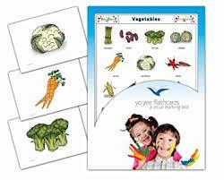 Food Flash Cards Amazon Com Yo Yee Flashcards Vegetables And Health Food Flash