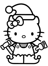Hello Kitty Christmas Elf Coloring Pages Christmas Coloring Pages